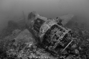 &quot;Hellcat resting&quot;. Wreck of a US Hellcat fighter, near Gi... by Mark Gray 